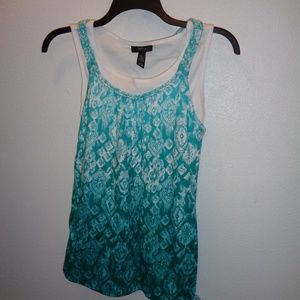 NWT Women's Style & Co Layered Tank Top Size M